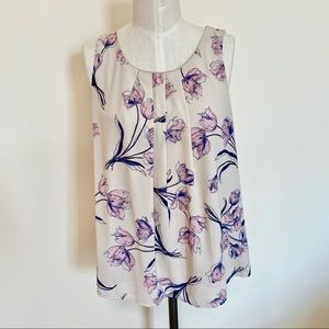 PAPERMOON Sleeveless Floral Blouse